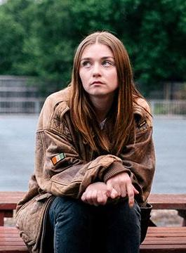 Jessica Barden The End Of The Fucking World Oversized Jacket