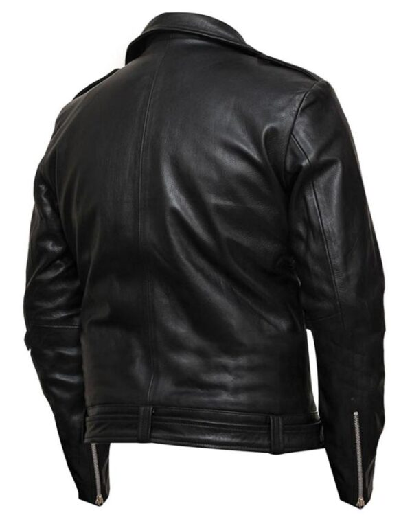 Negan The Walking Dead Black Leather Jacket