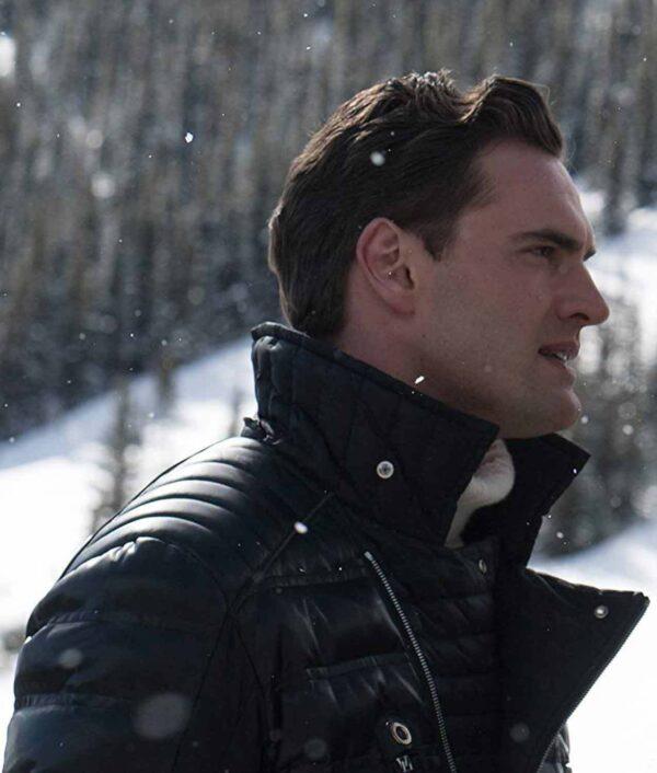 Tom Bateman Cold Pursuit Trevor Calcote Black Jacket Leather Jacket