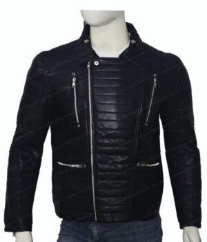 Trevor Calcote Cold Pursuit Leather Jacket Zipped