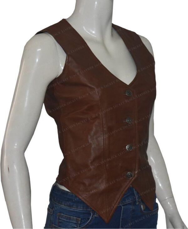 Duke Of Hazzard Daisy Duke Leather Vest Right