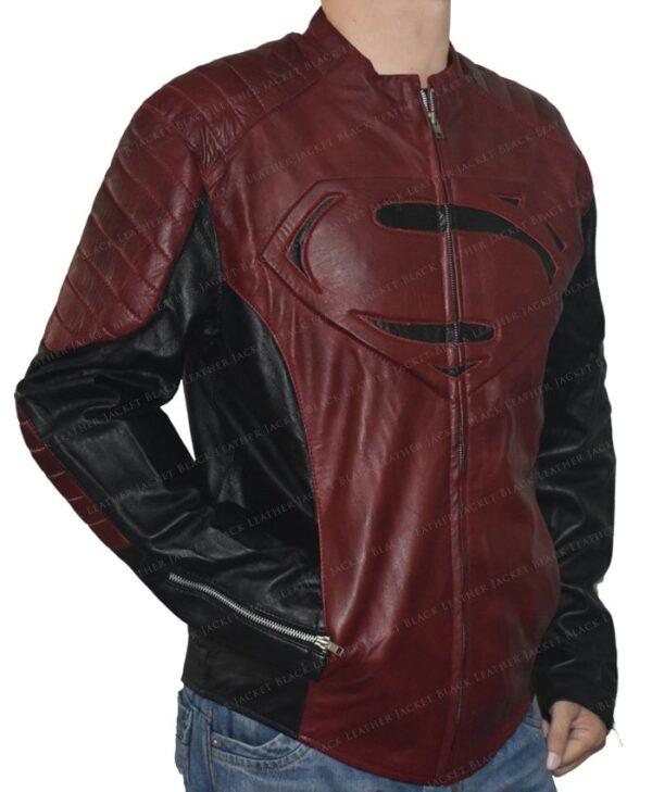 Smallville Superman Maroon And Black Jacket Right