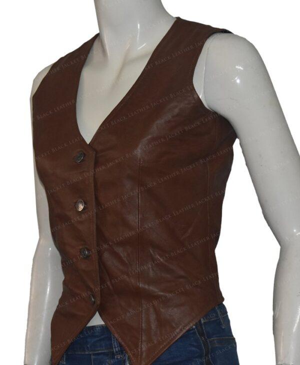 Duke Of Hazzard Daisy Duke Leather Vest Left