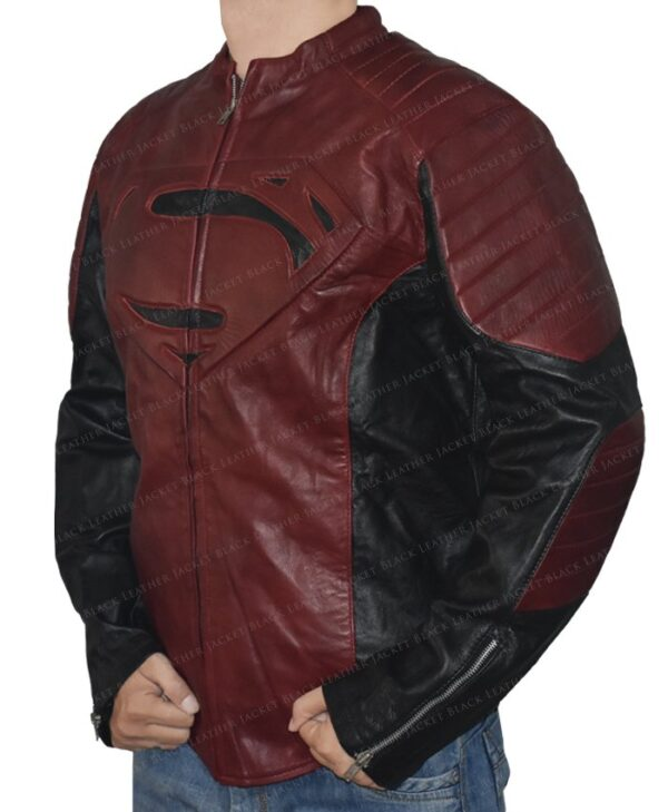 Smallville Superman Maroon And Black Jacket Left