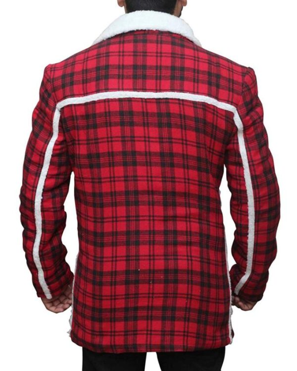Deadpool Wade Wilson Red Checkered Jacket
