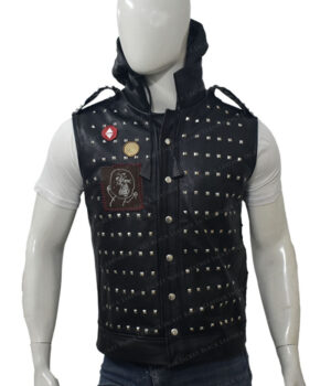 Watch Dogs 2 Studded Vest Front Down Hood