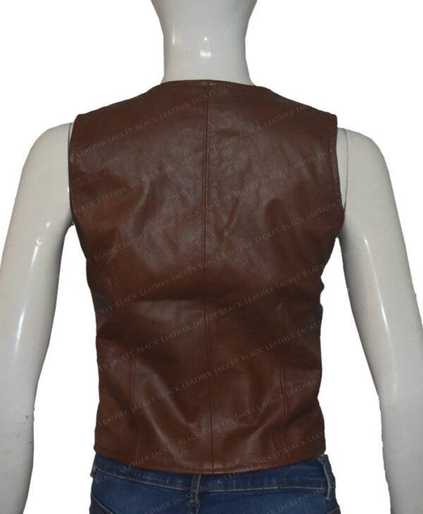 Duke Of Hazzard Daisy Duke Leather Vest Back
