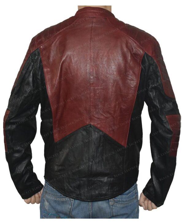 Smallville Superman Maroon And Black Jacket Back