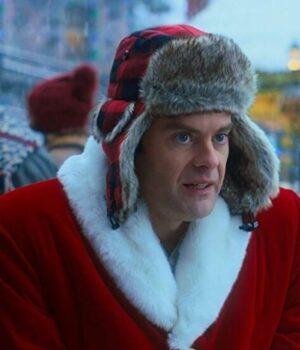 Noelle Nick Kringle Red Wool Coat