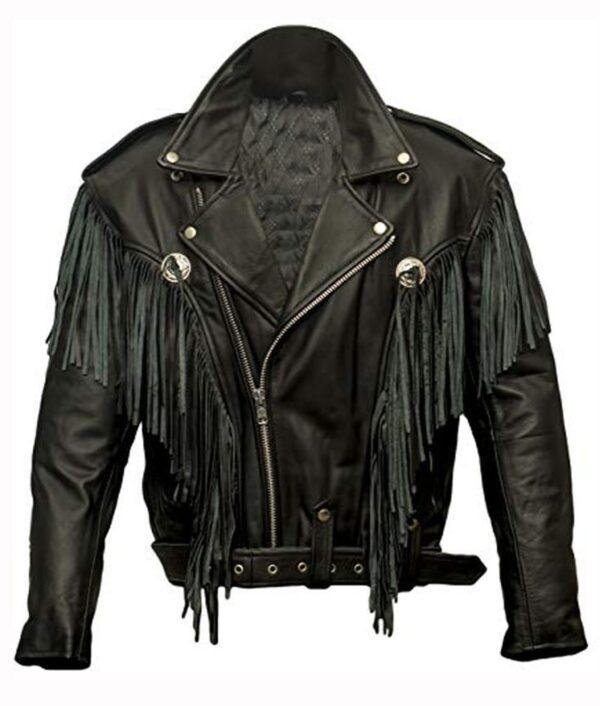 Alba Flores Money Heist Nairobi Fringe Black Jacket11