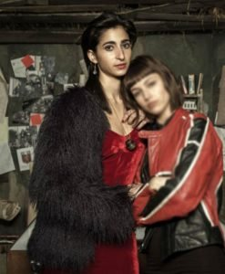 Alba Flores Money Heist Black Fur Jacket