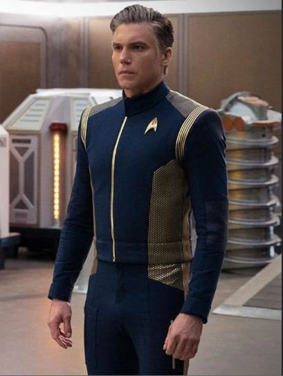 Star Trek Discovery Anson Mount Blue Leather Jacket