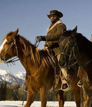 Django Unchained Brown Leather Coat