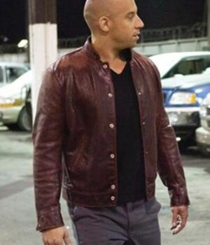 Dominic Toretto Fast and the Furious Maroon Jacket