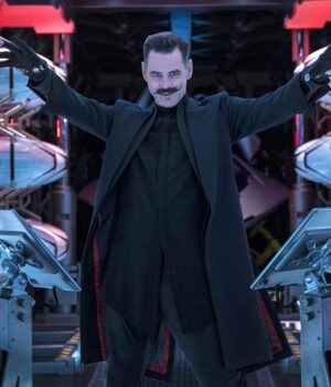 Dr. Ivo RobotnikSonic The Hedgehog Black Trench Coat