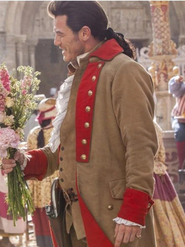 Gaston Beauty and the Beast Red Cotton Coat