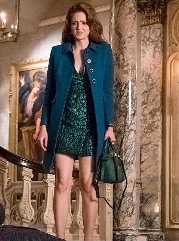 Ivy Pepper Gotham Wool Blue Coat