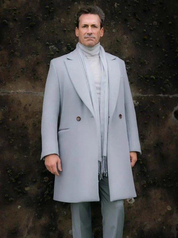 Good Omens TV Series Jon Hamm Trench Coat