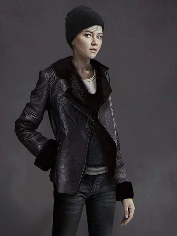 Detroit Become Human Kara Black Shearling Jacket