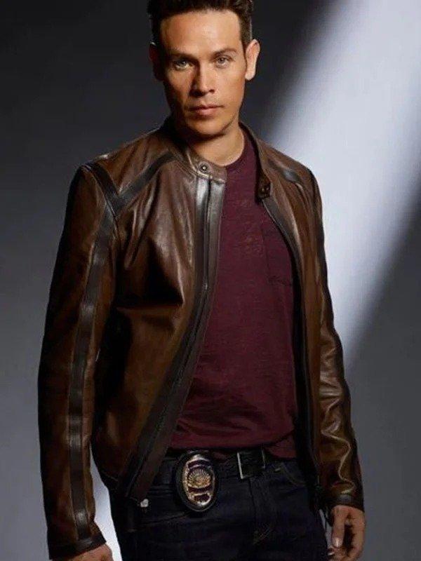 Dan Espinoza Lucifer Leather Brown Jacket
