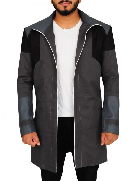 Detroit Become Human Markus Grey Trench Coat