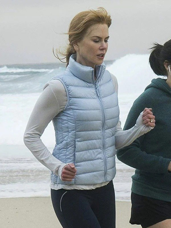 Nicole Kidman Big Little Lies Blue Puffer Vest