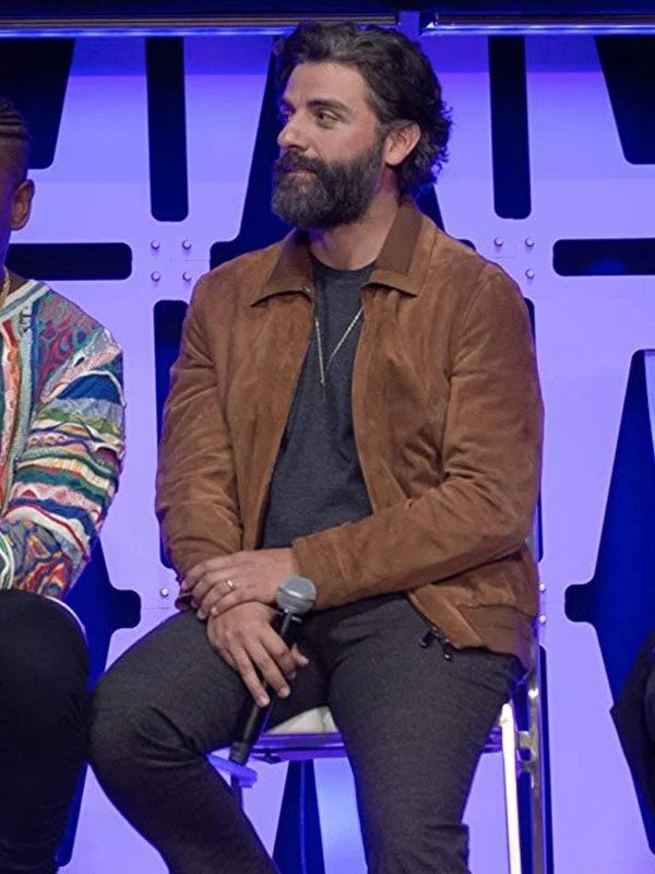 Star Wars The Rise of Skywalker Oscar Isaac Bomber Suede Jacket