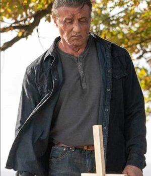 Rambo Last Blood Sylvester Stallone Black Jacket