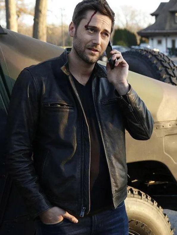 The Blacklist Ryan Eggold Leather Black jacket