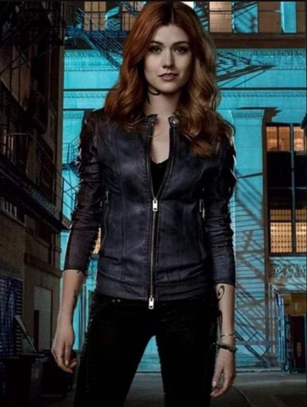 Shadowhunters Clary Fray Leather Black Jacket