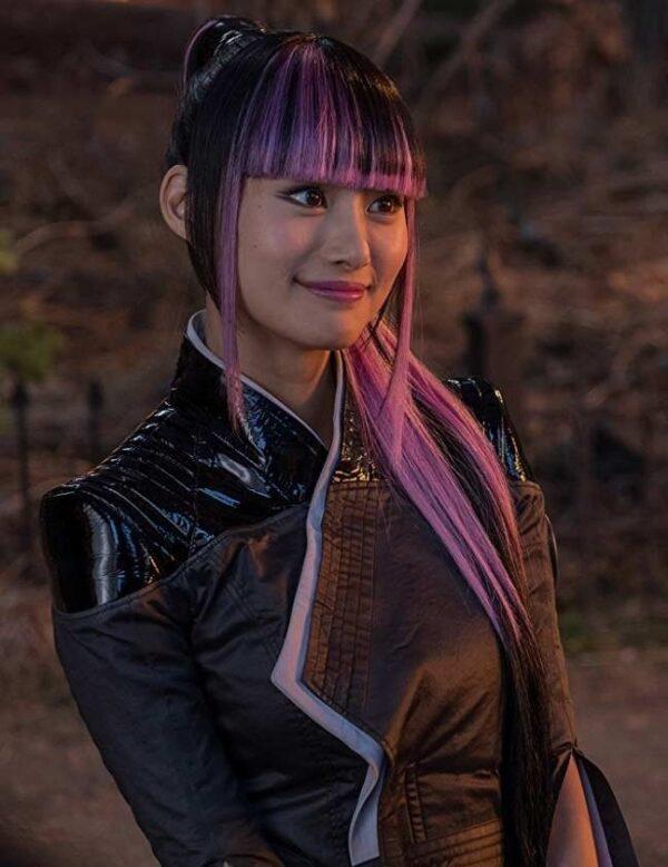 Deadpool 2 Shioli Kutsuna Leather Black Jacket