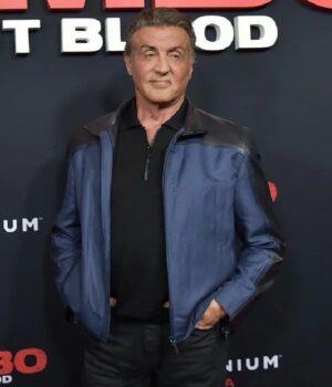 Sylvester Stallone Rambo Premiere BlueJacket
