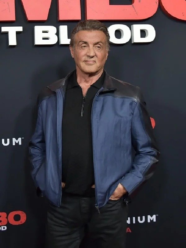 Sylvester Stallone Rambo Premiere BlueJacket