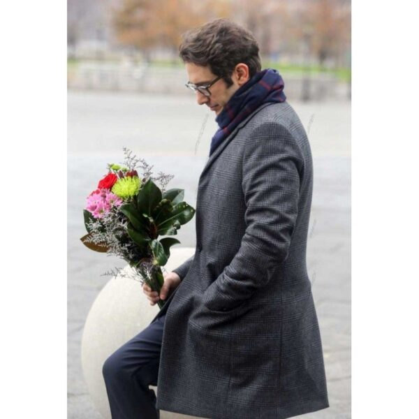 Josh Groban The Good Cop Grey Coat