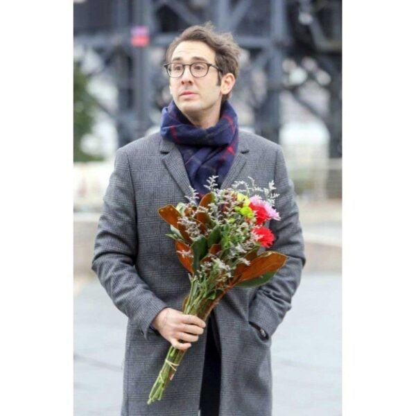 Josh Groban The Good Cop TV Series Cotton Grey Coat