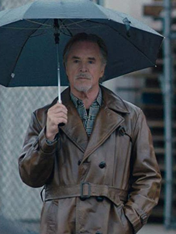 Don Johnson Vault Brown Trench Coat