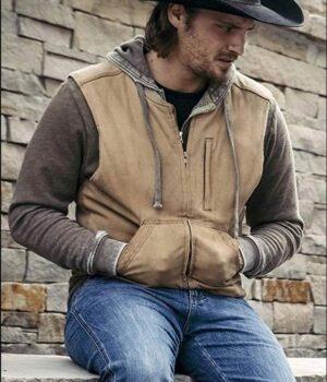 Yellowstone Kayce Dutton Brown Cotton Vest