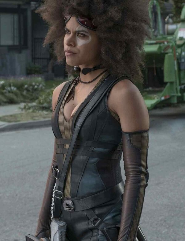 Domino Zazie Beetz Deadpool 2 Black Vest
