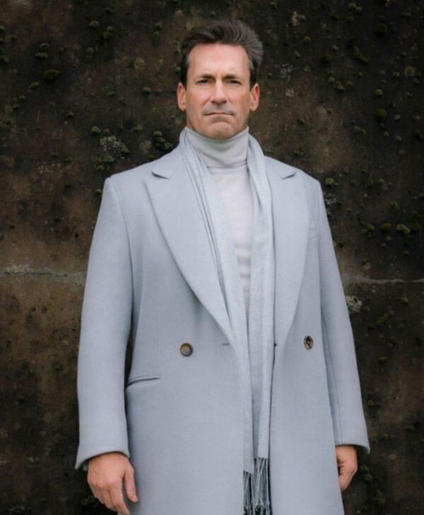 Gabriel TV Series Good Omens Jon Hamm Grey Coat