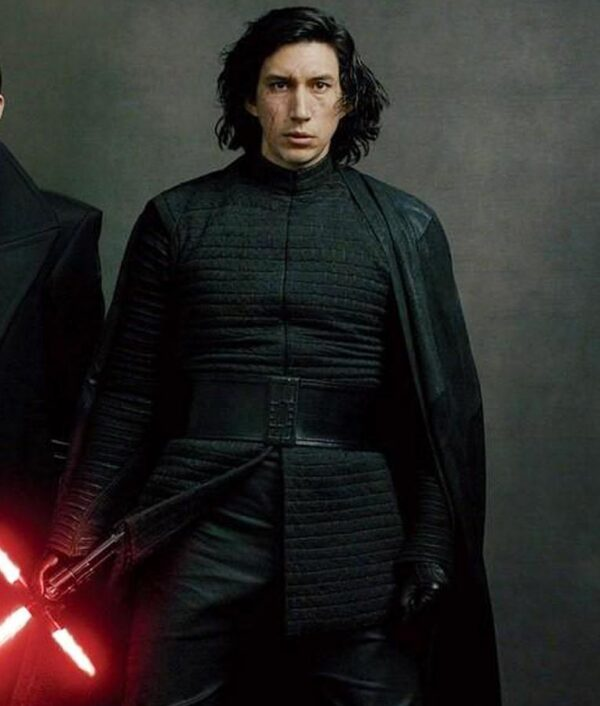 Star Wars The Last Jedi Adam Driver Black Jacket