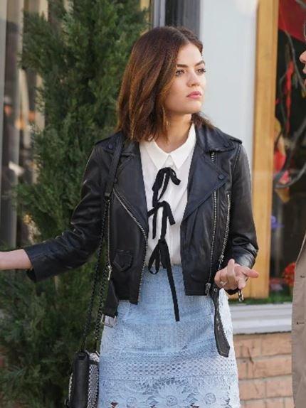 Lucy Hale Pretty Little Liars Biker Jacket