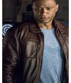 S04 John Diggle Arrow Brown Leather Jacket