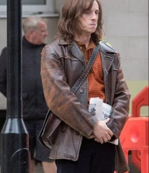 Rocketman Bernie Taupin Leather Brown Jacket