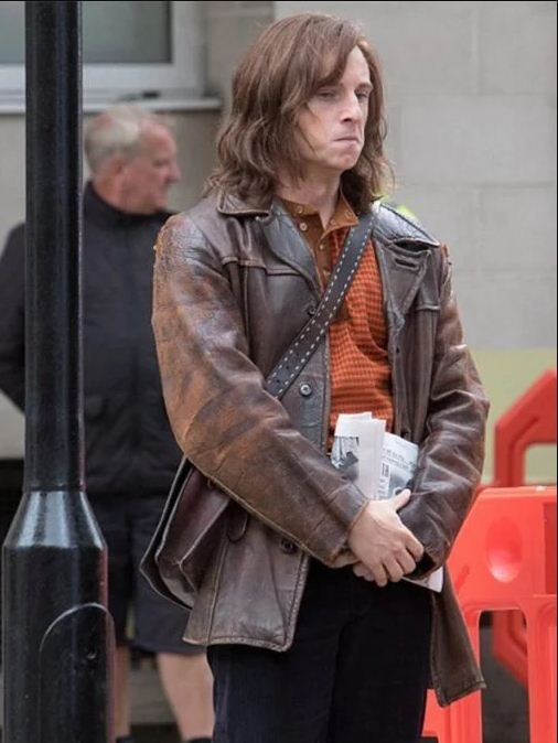 Rocketman Bernie Taupin Leather Brown Jacket