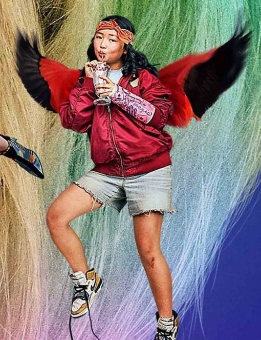 Birds of Prey Ella Jay Basco Red Parachute Jacket