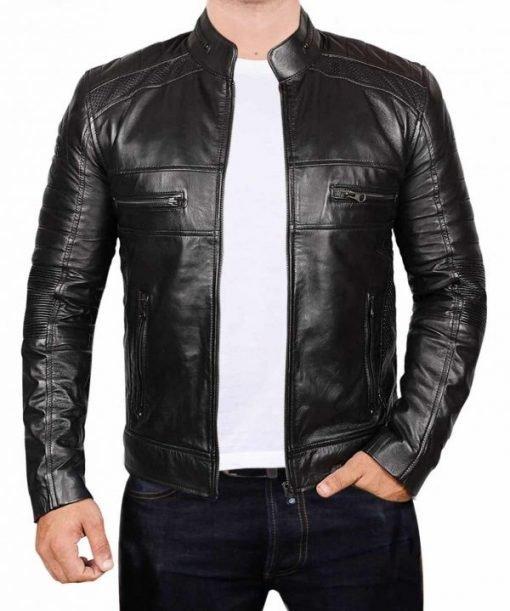 Black Johnson Leather Black Jacket