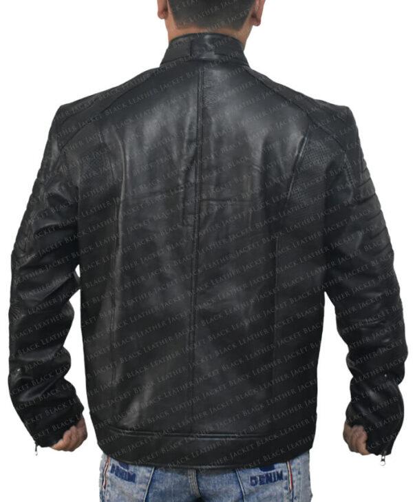Black Johnson Men Jacket Back