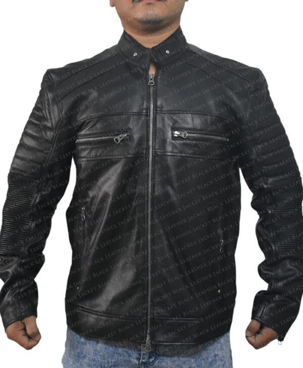 Black Johnson Men Jacket