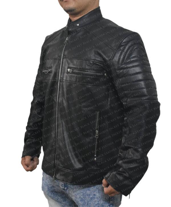 Black Johnson Men Jacket Right Side