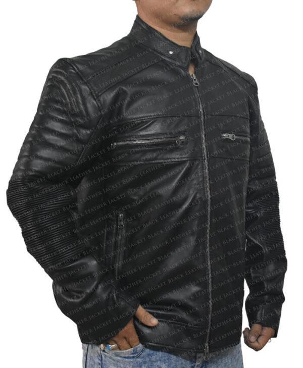 Black Johnson Men Jacket Side
